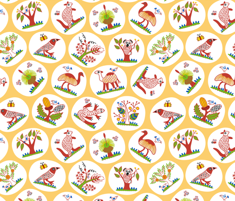OzBush fabric by yellowstudio on Spoonflower - custom fabric