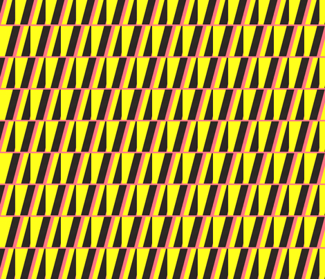 Leda Yellow, Pink & Black fabric by stoflab on Spoonflower - custom fabric