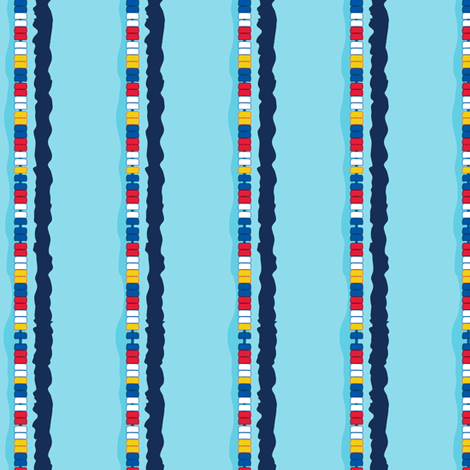 AquaticsPoolStripe fabric by caitlinrose on Spoonflower - custom fabric