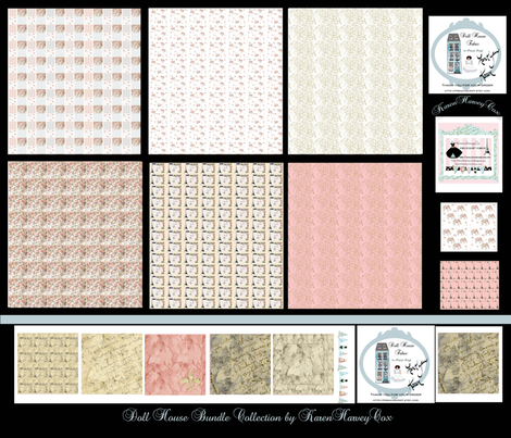 Doll House Bundle fabric by karenharveycox on Spoonflower - custom fabric