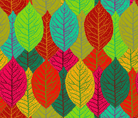 Aspen leaves extra large fabric by keweenawchris on Spoonflower - custom fabric