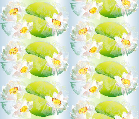waterlily fabric by veerapfaffli on Spoonflower - custom fabric
