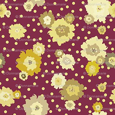 Mustard Polka Dot Marigolds