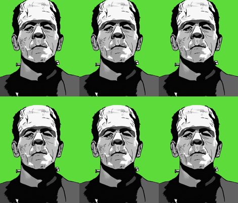 Frankenstein fabric by bigfatsheep on Spoonflower - custom fabric