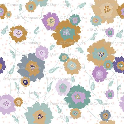 Brown Teal Flowers