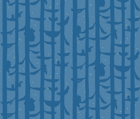 little hammock in the woods fabric by doodleandhoob on Spoonflower - custom fabric