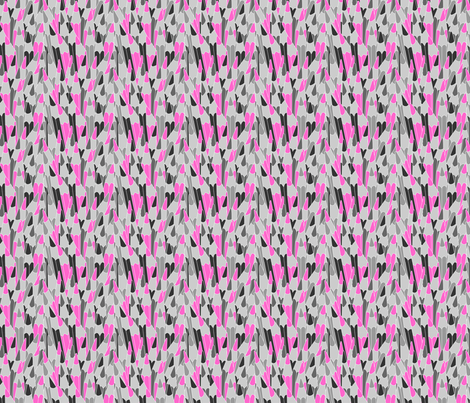 Pencils in pink fabric by valmo on Spoonflower - custom fabric