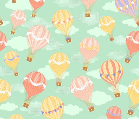Sorbet Skies fabric by alissecourter on Spoonflower - custom fabric