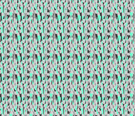 Pencils in green fabric by valmo on Spoonflower - custom fabric