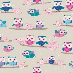 Springtime Owls