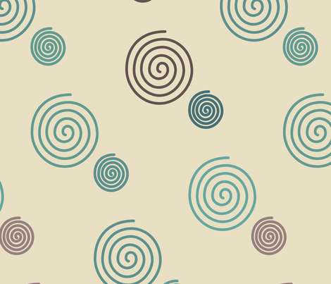 decorator-spirals-multi-mgrns-sand-300 fabric by mina on Spoonflower - custom fabric