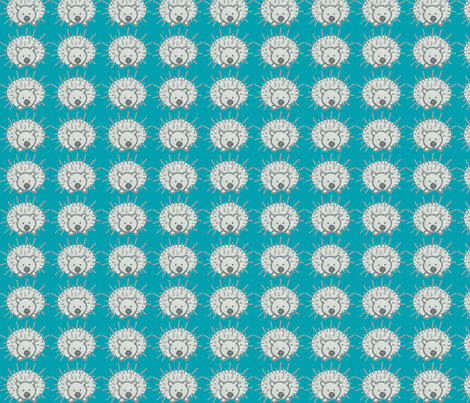 My Friend Spike in Teal fabric by kbexquisites on Spoonflower - custom fabric