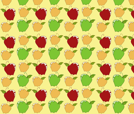 AppleSnaps in Yellow fabric by garwooddesigns on Spoonflower - custom fabric