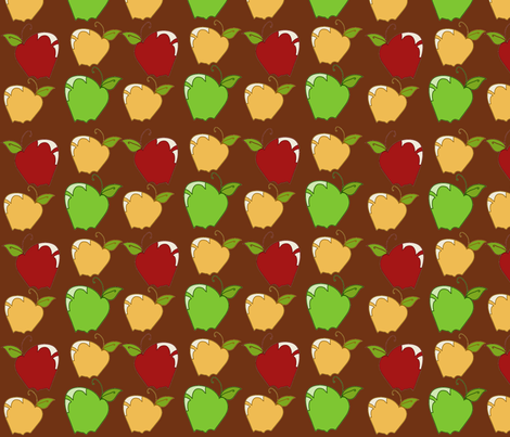 AppleSnaps i Brown fabric by garwooddesigns on Spoonflower - custom fabric