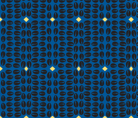 cowrie blue back fabric by nalo_hopkinson on Spoonflower - custom fabric
