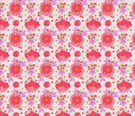 Star Flowers fabric by chad_grohman on Spoonflower - custom fabric