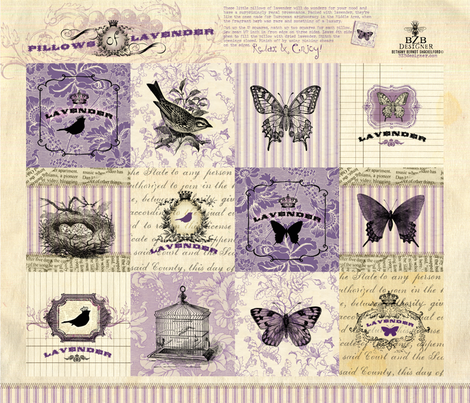 Pillows of Lavender fabric by bzbdesigner on Spoonflower - custom fabric