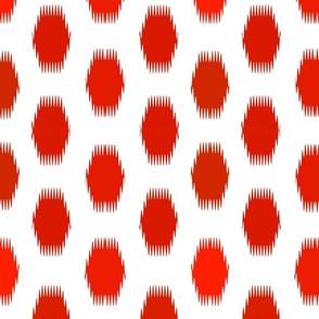 Ikat Carnival Red