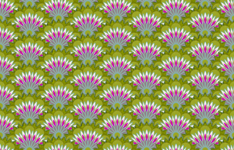 Emma's flowers large scale fabric by keweenawchris on Spoonflower - custom fabric