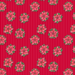 Poinsettia Joy Red Stripes small