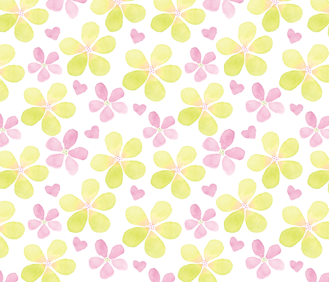 Plumeria fabric by snowflower on Spoonflower - custom fabric