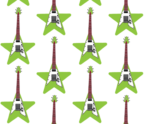 rockstar lime fabric by paragonstudios on Spoonflower - custom fabric