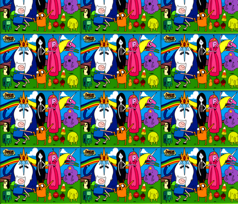 Adventure time cast fabric by cala4899 on Spoonflower - custom fabric