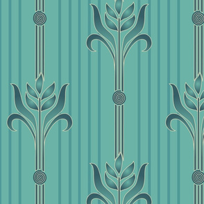 Decorator-Collection-Coordinates-STRIPE-1spiral-sand-brn-ltmgrn-w-stripes