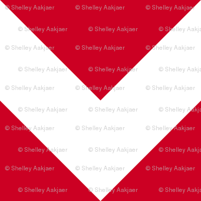 Personalised Name Fabric Coordinate - Red Chevrons