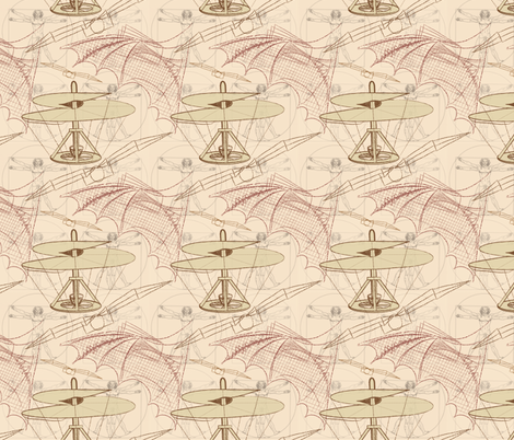 Leonardo's Legacy fabric by jjtrends on Spoonflower - custom fabric