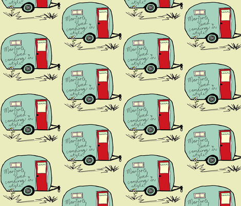 Marjorie Loved to Camp in Style fabric by evelynrosedesigns on Spoonflower - custom fabric