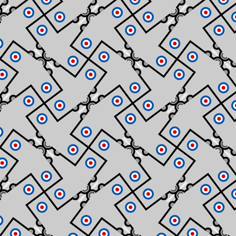 mod plane 4g in 1 fabric by sef on Spoonflower - custom fabric