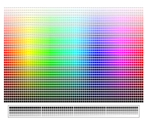 Color Chart fabric by dondragmer on Spoonflower - custom fabric