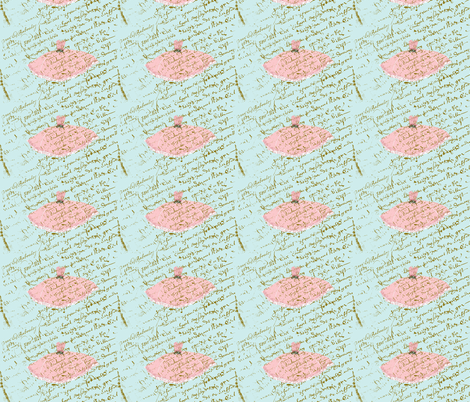 Ooh la la dresS, Tiffany Blue and Pink fabric by karenharveycox on Spoonflower - custom fabric