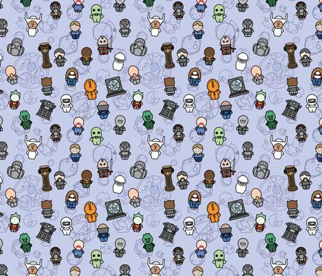 New Monsters and Aliens fabric by studiofibonacci on Spoonflower - custom fabric