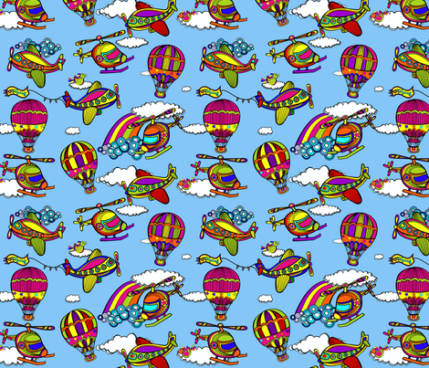 I love flying fabric by juliagrifol on Spoonflower - custom fabric