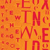 neon orange letters