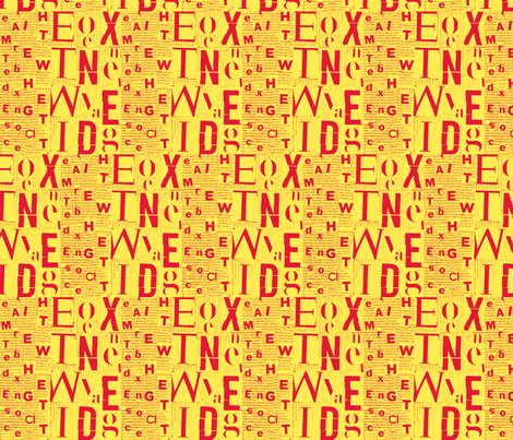 yellow red letters fabric by alotteson on Spoonflower - custom fabric