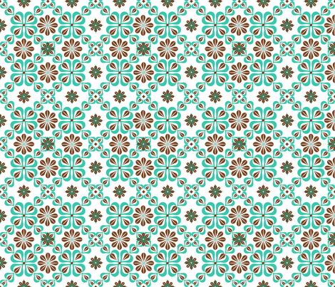 original daisy tile fabric by cindilu on Spoonflower - custom fabric