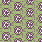 INTERIOR CIRCLES- purple, green, white