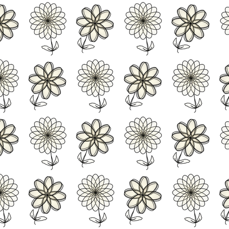 Line of Flowers fabric by sewbiznes on Spoonflower - custom fabric