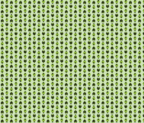 green ladybugs fabric by audreyclayton on Spoonflower - custom fabric