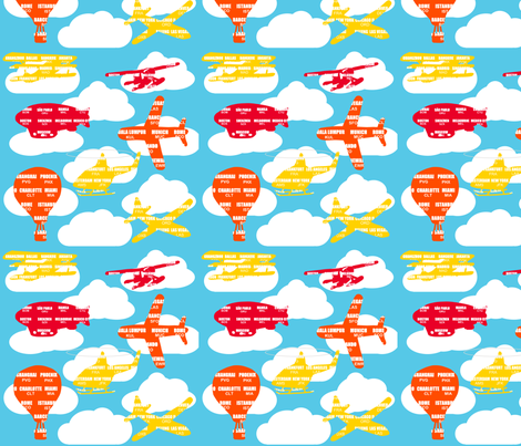 Aviation fabric by alexsan on Spoonflower - custom fabric