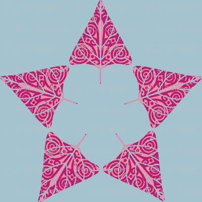 christmas tree star magenta