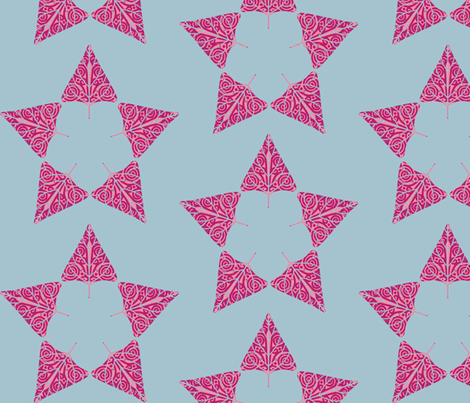 christmas tree star magenta fabric by keweenawchris on Spoonflower - custom fabric