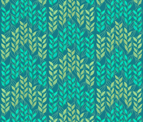 Bronze and turquoise sea grasses fabric by su_g on Spoonflower - custom fabric