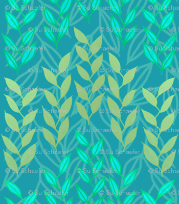 Aqua and bronze sea grasses