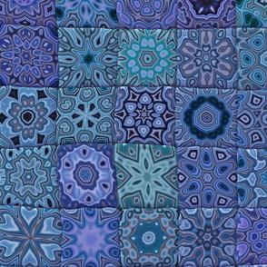 Quilt - Floral - Blue