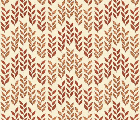 Minoan grasses on milk cream linen weave fabric by su_g on Spoonflower - custom fabric