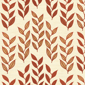 Minoan grasses on milk cream linen weave